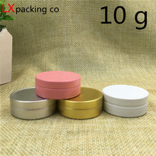 Free Shipping 10g/ml Pink White Aluminum Empty Lucifugal Flat Bottle Jar Cream Eye Gel Lip Pomade  Cosmetic Containers