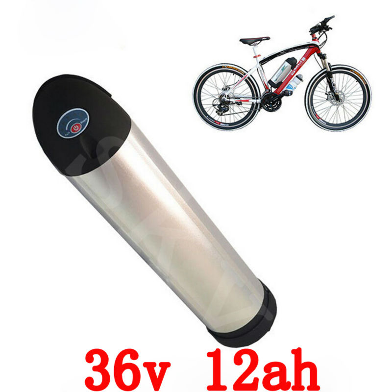 36V lithium battery 500W 36V Bottle battery 36V 12AH Electric Bike Battery for samsung 3000mah cell with 15A BMS 42V 2A Charger