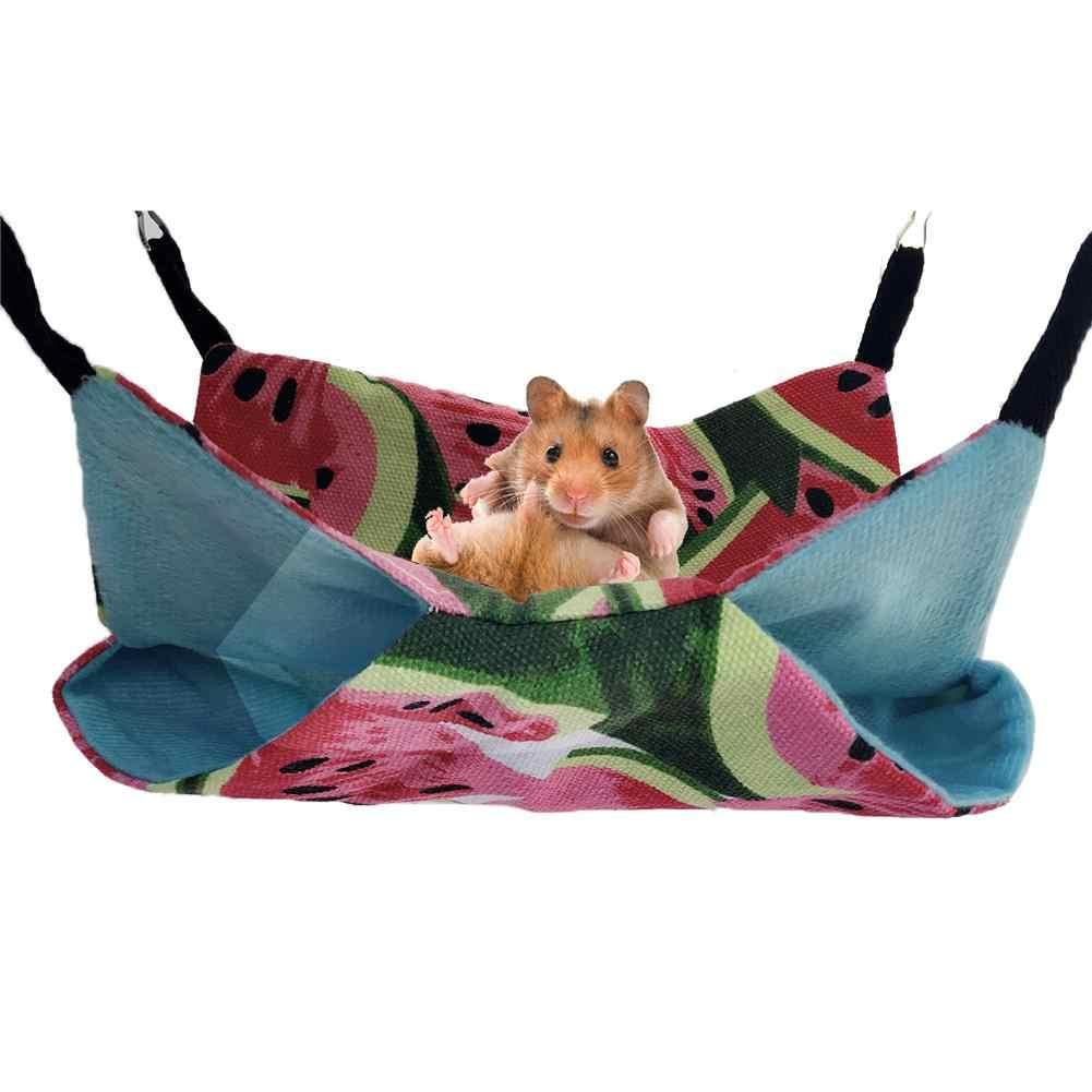 Pet Redes Penduradas Ninho Cama Chinchilas Hamsters Furões Hammock Hammock Da Lona Dupla Camada Pequeno Pet Algodão Ninho Gaiola de Acesso