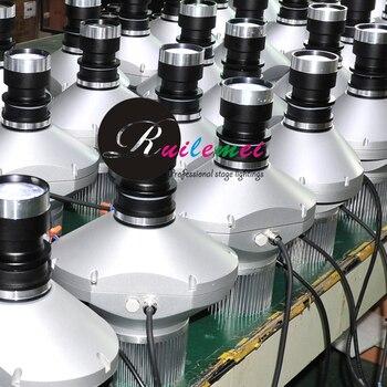 새로운 dmx 40 w led 방수 ip65 이미지 회전 로고 프로젝션 고 보 프로젝터 빛 5 사용자 지정 유리 고 보 소켓