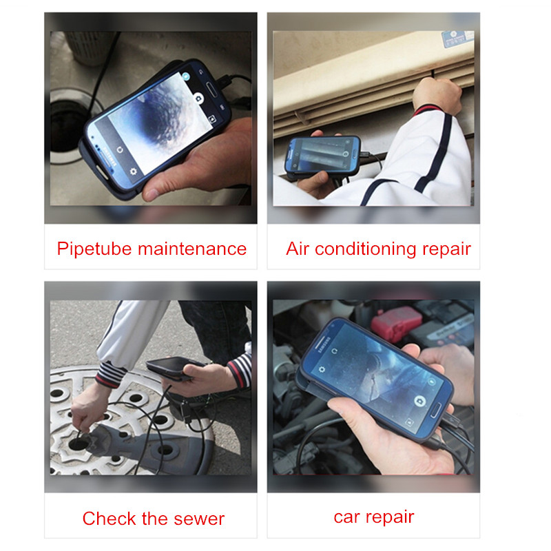 Image 5 - KERUI Wireless 1m 2m 5m WiFi 1200P HD 8mm Endoscope Camera Wifi Outdoor USB Endoscope Borescope Inspection Android iPhone Camera-in Surveillance Cameras from Security & Protection