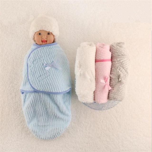 d56e784a977a Baby Blanket Envelope Swaddle Winter Wrap Coral Fleece Newborn ...