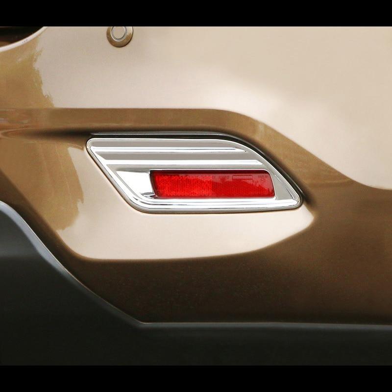 For Nissan Sentra 2016 2017 2018 ABS Chromium Styling Car Rear Fog Light Lamp Cover Trim Reflector Garnish Shade Frame