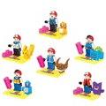 6 unids/set Figuras de juguete de Dibujos Animados Lindo Pikachu Charmander Squirtle con Ash Ketchum Del bloque Hueco Juguetes de Colección