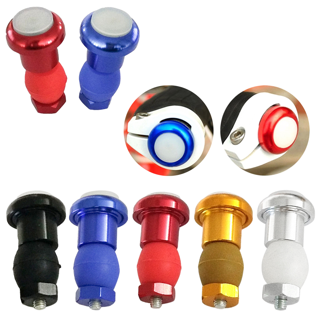 1 Pcs Bicycle Bike Light Handlebar End Caps Handlebars 3 Modes Plugs LED Blinker Lights Warning Taillights Bicycle Accessories