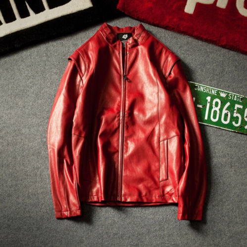 Plus Size 5XL Men's Leather Jacket Slim fit PU Biker Motorcycle Warm Bomber Coat Outwear Overcoat High Quality