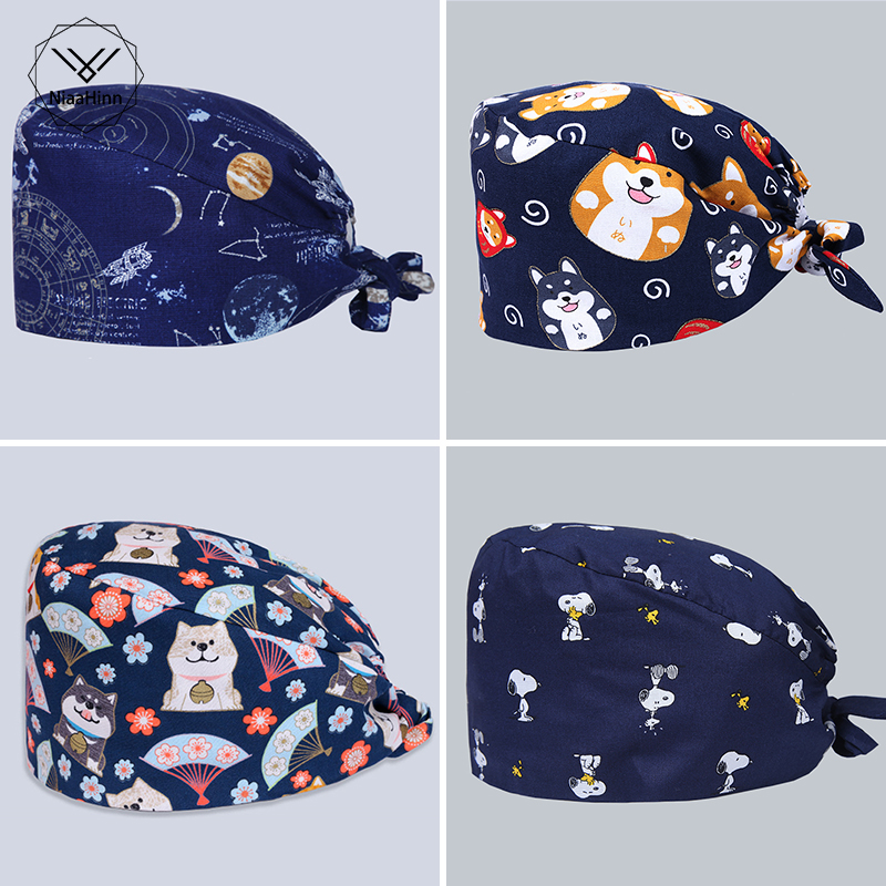 Navy Space Earth Men's Print Medical Scrub Cap Beauty Salon Dentist Clinic Work Surgical Hats Nursing Caps Ultra Soft Cheap Sale