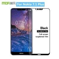 For Nokia 7.1 Plus Original MOFi 9H Full Cover Tempered Glass Screen Protector Film for Nokia 7.1 Plus Toughened Glass Film