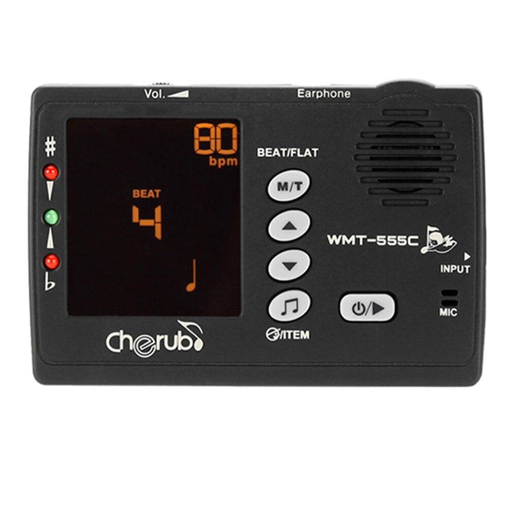 Cherub wmt-555c afinador de guitarra de sonido función de pantalla lcd retroilum