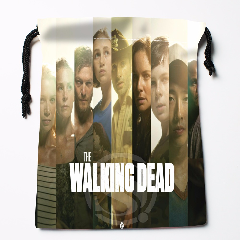 Fl-Q11 New The Walking Dead #6 Custom Logo Printed  Receive Bag  Bag Compression Type Drawstring Bags Size 18X22cm 711-#F11