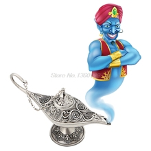 Silvery Legend Aladdin Magic Genie Light Wishing Oil Collectable Classic Lamp Dropship