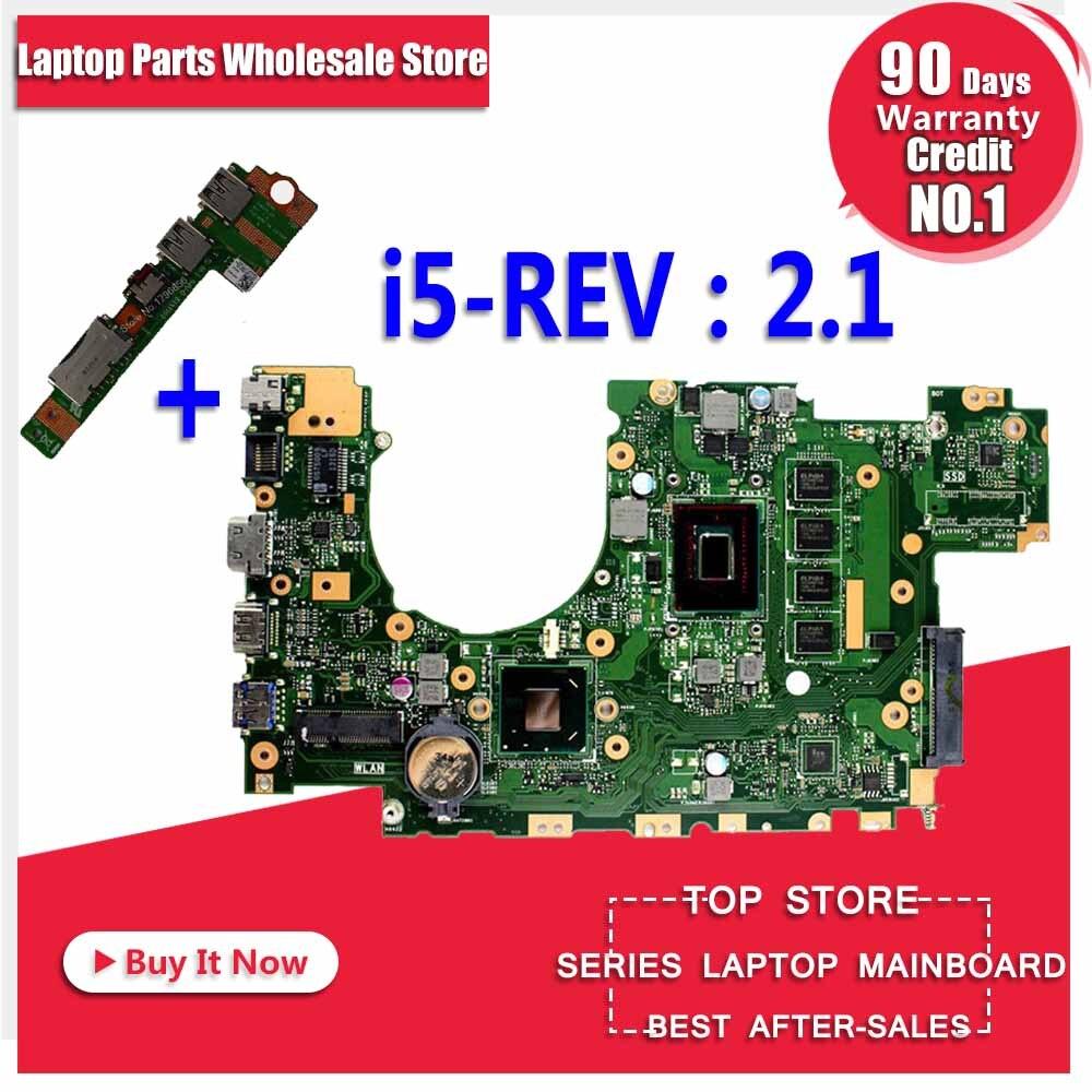 Send Board+X402CA Motherboard I5-REV:2.1 For ASUS X402CA X502C X502CA Laptop Motherboard X402CA Mainboard X402CA Motherboard