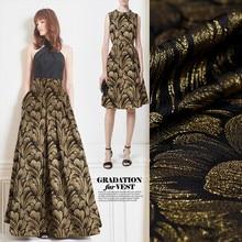 1Meter Brocade Jacquard Fabric Gold Silver Metallic Polyester Material Sew On Women Dress Coat Cloth Patchwork Zakka DIY