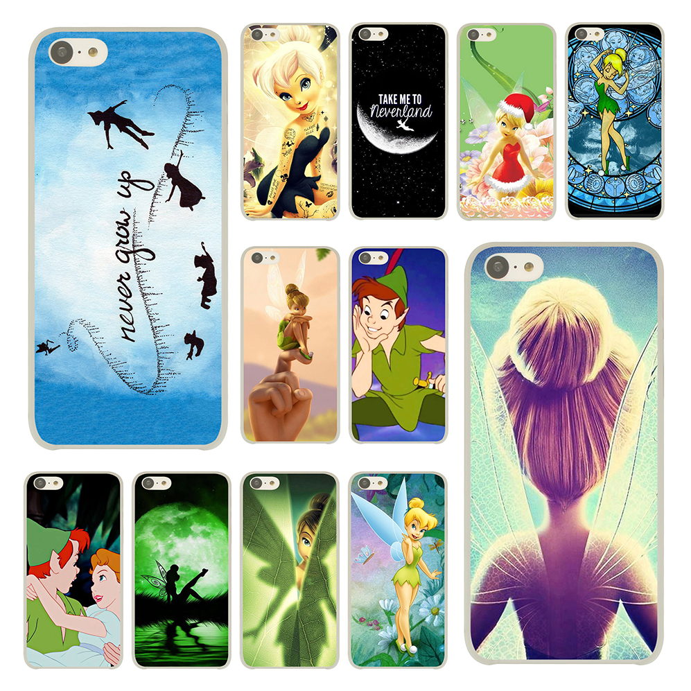 Peter Pan Wendy Tinkerbell Cover Case for iPhone 5C Plastic Back Cases Hard Clear Skin