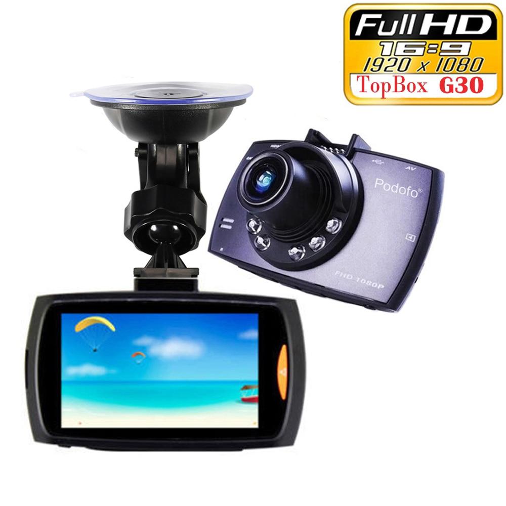 """imágenes para Coche dvr g30 2.7 """"full hd 1080 p cámara del coche del registrador motion night vision detección g-sensor dashcam grabación cíclica"""