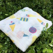 Ice Cream Baby Blankets Multicolor Soft And Breathable Bamboo Cotton For Newborn Bath Towel Swaddle Unisex Manta Blanket Muslin