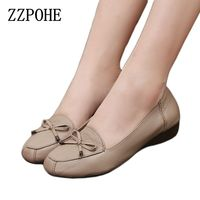 2016 Spring And Autumn Fashion Shoes Leather Soft Bottom Flat Shoes Peas Mother Slip Comfort Women