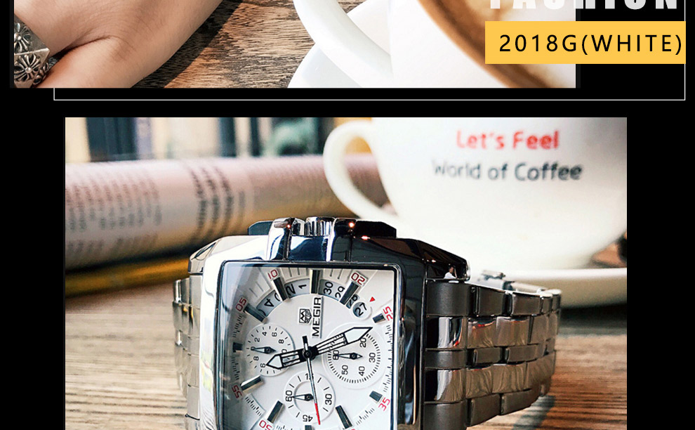 2018-En_18  MEGIR Males's Large Dial Luxurious Prime Model Quartz Wristwatches Artistic Enterprise Stainless Metal Sports activities Watches Males Relogio Masculino HTB1gj21DCtYBeNjSspkq6zU8VXa9