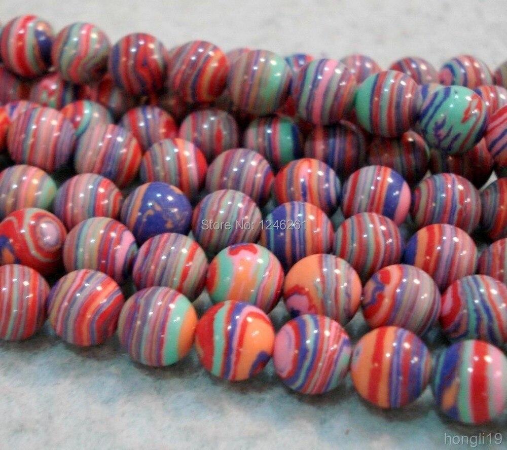 0c2ef67bf05f Caliente 8mm multicolor Turquía piedra redonda suelta Cuentas accesorios  joyas de moda semipreciosa Piedra Natural precio al por mayor