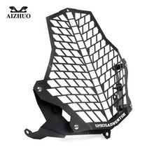 For KTM 1290 Super Adventure 1190R 1190 R 1190 Adventure Motorcycle Headlight Protector Guard Grill Cover 2013 2014 2015 2016 17 for ktm 1190r 1190 adventure 2013 2018 2017 2016 motorcycle accessories headlight head lamp light grille guard cover protector