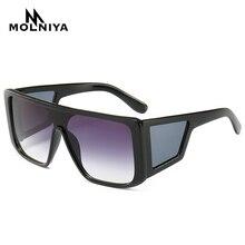 2019 New Fashion Ladies Punk Square Sunglasses Women Luxury Brand Designer Oversized Sun Glasses For Female UV400