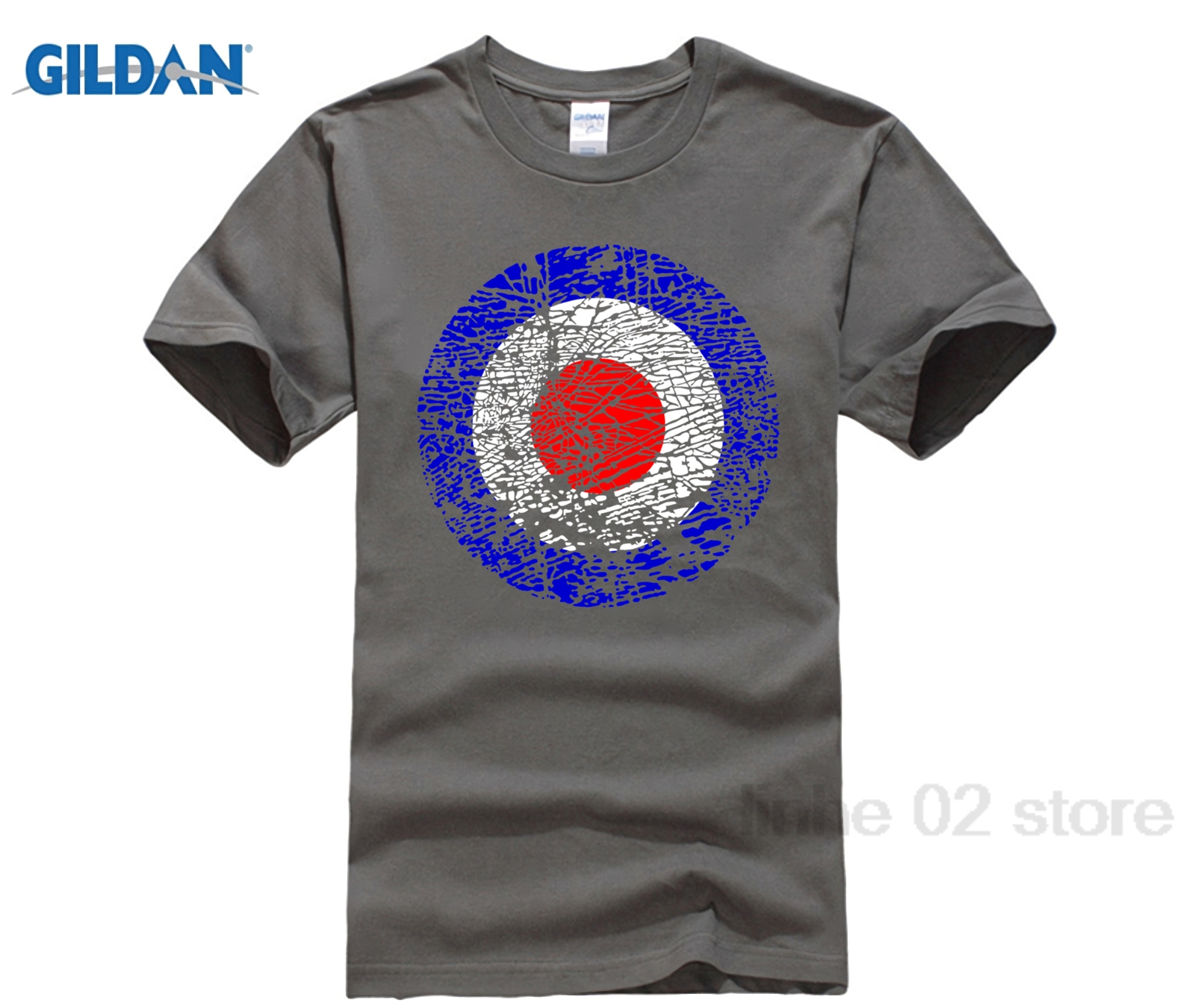 GILDAN Vintage Distressed Mod Target Broken Glass Pop Art T-Shirt sunglasses women T-shi ...