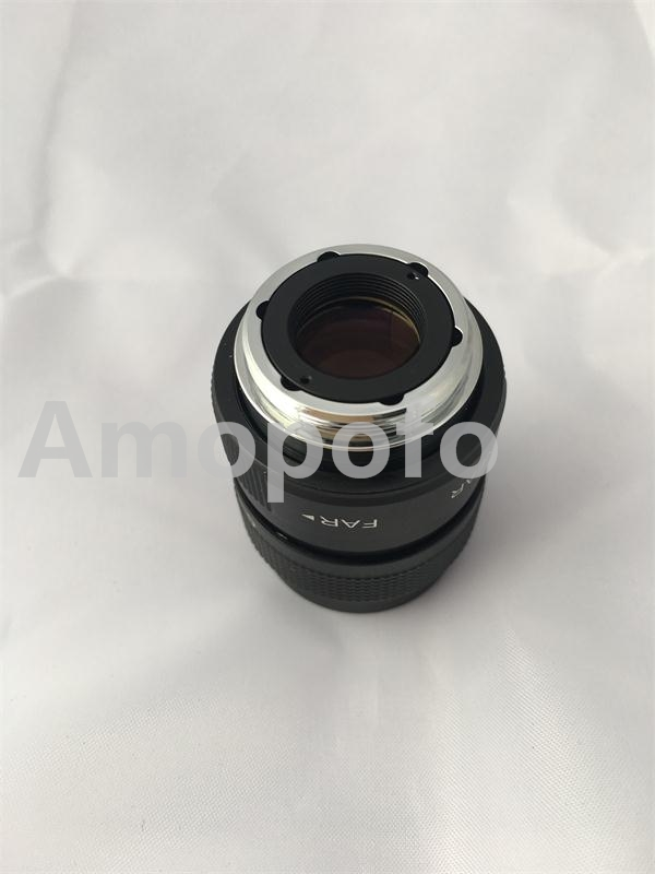 Amopofo, C-EF + noir 25mm F1.4 CCTV film objectif + C monter pour Canon EF 7D 20D 5D 650D 700D 1000D 40D caméra + 2 Macro anneau