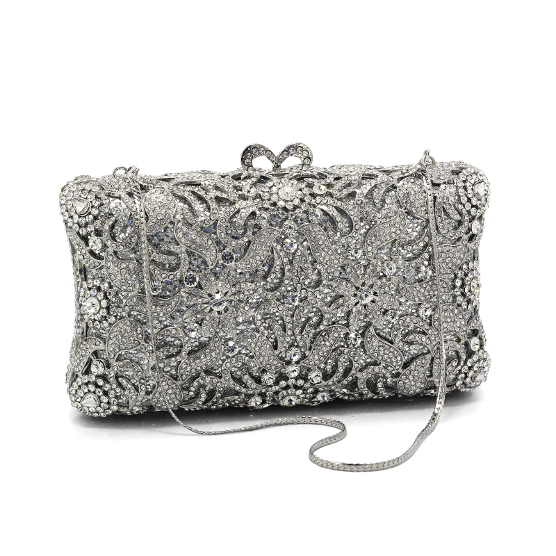 DAIWEI Luxury evening bag Crystal women party purse bags Ladies wedding bridal formal clutch bags banquet bag Day Clutches BL082 стоимость