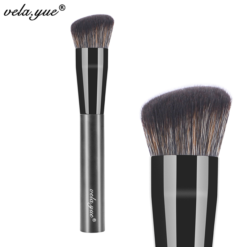vela.yue Synthetic Rounded Slant Brush Multipurpose Face Powder Foundation Blush Makeup Brush Beauty Tool bluefrag highlighter makeup brush flawless face brush multipurpose powder foundation blush blbr0132
