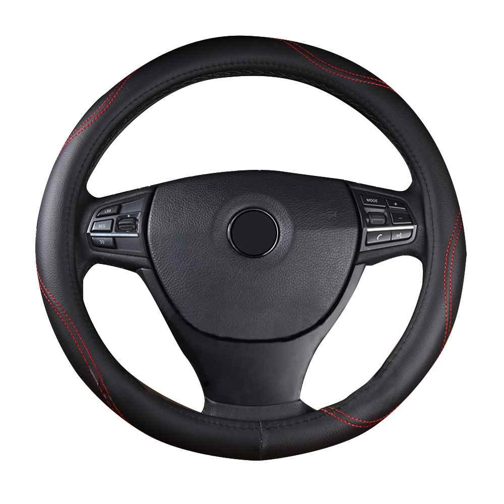 GLCC Car Cover on the Steering Wheel 3D Steering Wheel Cover 38cm Eco Friendly Microfiber Black Brown Gray Steering Covers