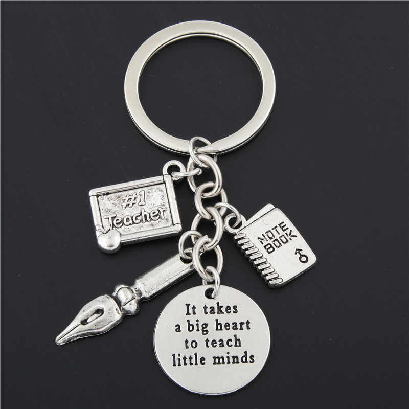 1pc Engraving Blank Charms Keychain For Couples Lovers Teachers Gifts Fit Words Keychain ID Thank You Tag Pendant