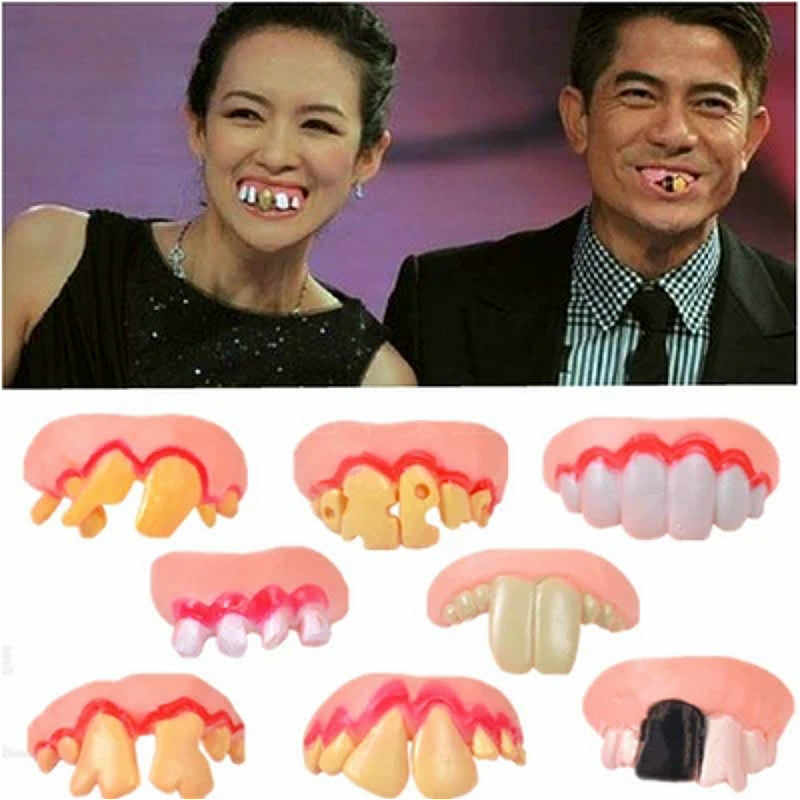 1pcs Halloween Corpse Zombies Simulation False Teeth Action & Toy Figures Boy Girl Children Holiday Gift Funny Frightening