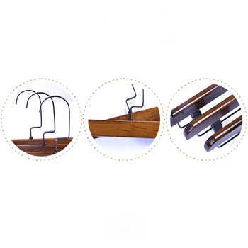 10ชิ้น/ล็อตไม้เนื้อแข็งกางเกงชั้นผู้ใหญ่เด็กไม้ไม้แขวนสำหรับเสื้อผ้าชั้นวาง