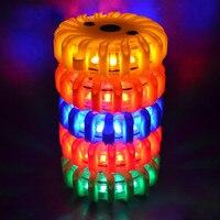 Segurança Lanterna Faróis Equitação Veículo Recarregável LED Estrada Flares Vermelho Piscando Luzes de Advertência de Emergência Na Estrada Disco Beacon