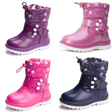 Fashion new warm children's shoes in the bottom tube cotton boots autumn and winter thick warm waterproof boys snow boots
