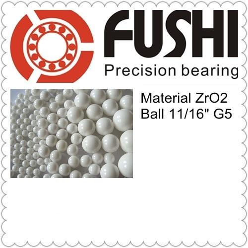 Free Shipping 1 pc Loose Ceramic Balls 11 16 17 463mm G5 Grade Quality ZrO2 Zirconia