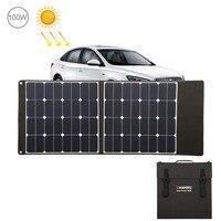HAWEEL складное солнечное зарядное устройство Вт 100 Открытый путешествия перезаряжаемые Складной Мешок и 5 В/2.4A USB порты разъёмы 2 солнечных пан