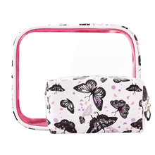 LVTREE PU Travel Cosmetic Bag Flamingo Butterfly Makeup Case Women Zipper Make Up Bag Handbag Organizer Storage Pouch Wash Bags hanging travel cosmetic bag women zipper make up bag polyester high capacity makeup case handbag organizer storage wash bath bag