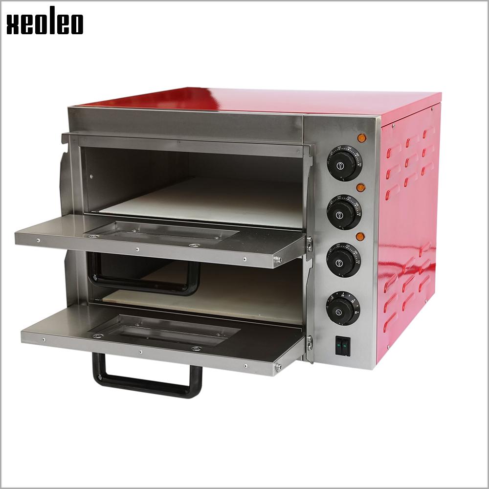 XEOLEO Pizza oven Two-tier Commercial Electric oven Commercial Baking machine use for making Cake/Bread/Pizza/Egg tart 220V 3KW 120l pizza oven cake bread toaster commercial household baking machine electric oven hbd 1201