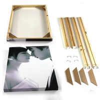 Marco de madera natural de la marca marcos para fotos Fábrica Proporcionar DIY marcos de fotos pared marcos de madera