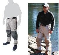 Outdoor Half Length Elastic Waist Wader Pants Thick Breathable Fabric Waterproof Men Women Fishing Sock Jumpsuit
