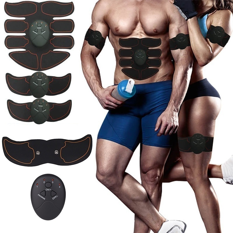 Unisex Smart EMS Muscle Stimulator Body Slimming Massager Electrical Arm Fitness Shaping Massage Patch Sliming Trainer Exerciser