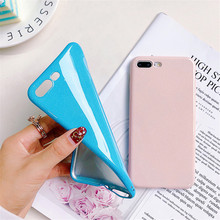 For iPhone 8 Glitter Candy Color Cases For iPhone 8 7 Plus Solf Silicone Phone Cover For iPhone 6 6S Plus X XR XS MAX Capa Coque