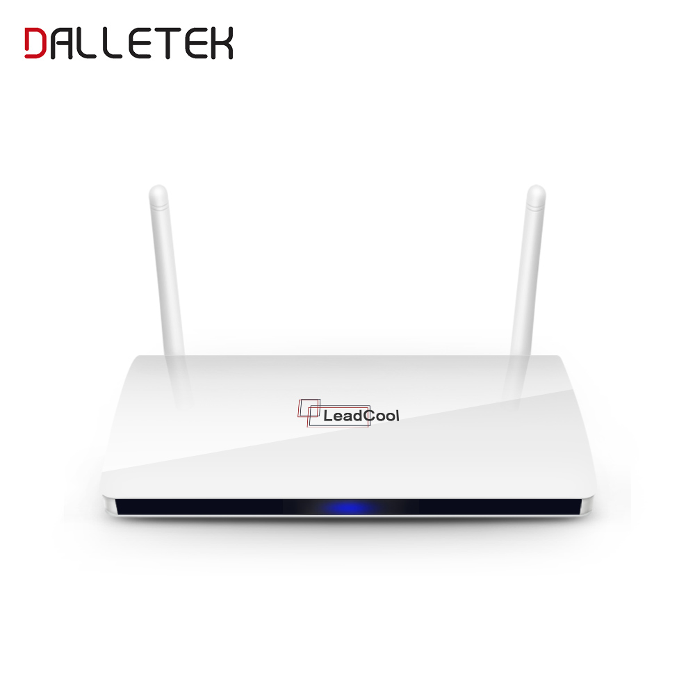 Leadcool QHDTV Set top box TV Receiver Android 6.0 Arabic Box Rk3229 Quad-Core 1G 8G WIFI Smart TV box Leadcool TV box