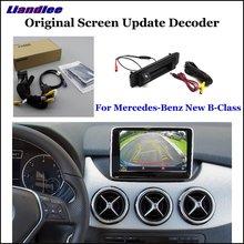 Liandlee Original Screen Update System For Mercedes Benz New B-Class Rear Reverse Parking Camera Digital Decoder Rear camera