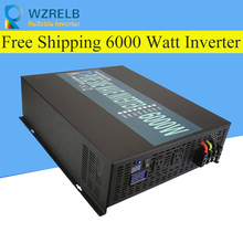 цена на Reliable Pure Sine Wave Inverter UPS and charging function 6000W outdoor home frequency inverter with charger