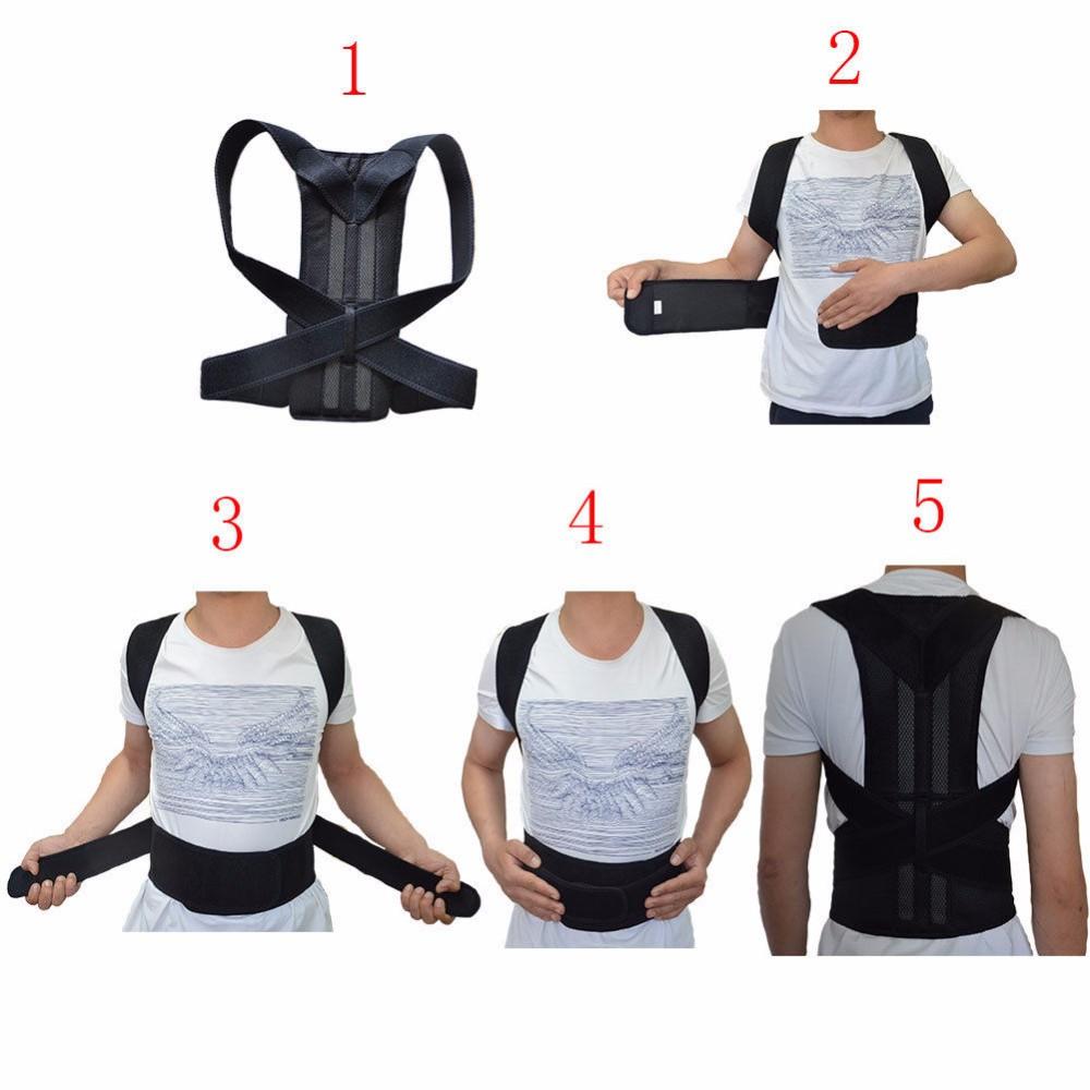 back support for women Unisex Adjustable Back Posture Corrector Brace Back Shoulder Support Belt Posture Correction Belt for Men Women S-XXL Belt Health AOFEITE (11)
