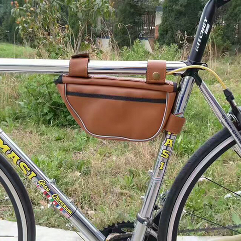 Retro Bike Bag Triangle Package Saddle Bag On The Tube Riding Equipment for Fixed Gear Rode Bike Bags Multan