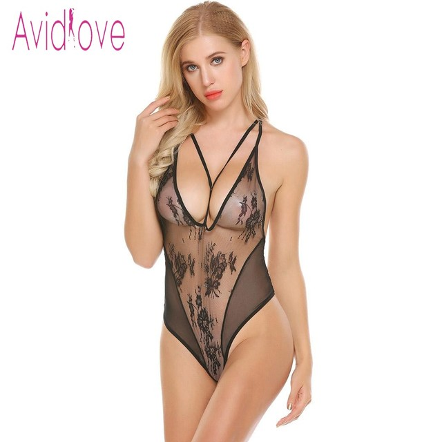 d1ab20db99 Avidlove 2018 New Lingerie Sexy Hot Erotic Underwear Women Lace Spaghetti  Strap Chemise Langeri Negligee Sex Costume
