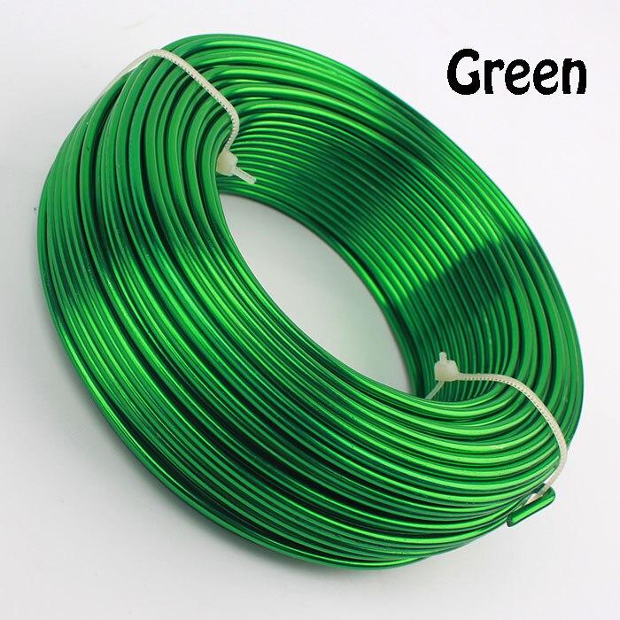 0,5 кг анодированная художественная алюминиевая проволока 2,5 мм 10 Калибр 39 м 43yd цветные украшения Мягкая металлическая проволока постоянные цвета - Цвет: Green
